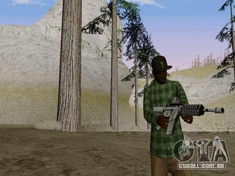 O membro da gangue Grove Street de GTA 5 para GTA San Andreas segunda tela