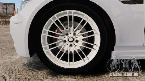 BMW M3 Unmarked Police [ELS] para GTA 4 vista de volta