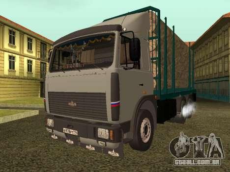 Transportador de madeira MAZ 6430 para GTA San Andreas