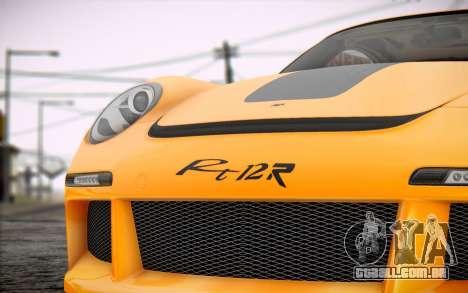 RUF RT12R para GTA San Andreas vista traseira