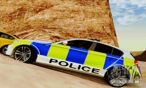 BMW 120i SE Police para GTA San Andreas vista superior