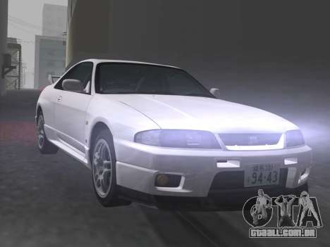 Nissan SKyline GT-R BNR33 para GTA Vice City vista inferior