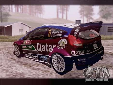 Ford Fiesta RS WRC 2013 para GTA San Andreas esquerda vista