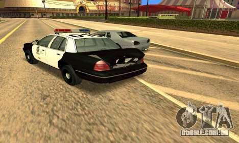 Ford Crown Victoria Police LV para GTA San Andreas vista superior