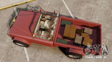 GTA V Canis Bodhi (Trevor Car) para GTA 4 vista direita