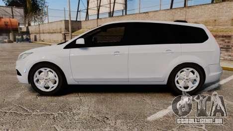 Ford Focus Estate 2009 Unmarked Police [ELS] para GTA 4 esquerda vista