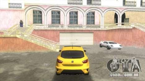 Seat Ibiza Cupra para GTA Vice City vista traseira esquerda