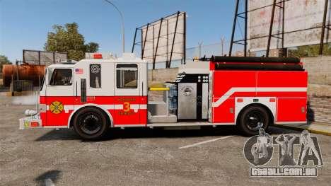 Firetruck Woonsocket [ELS] para GTA 4 esquerda vista