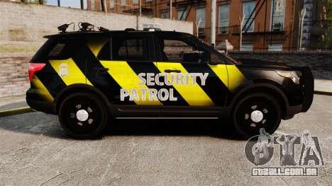 Ford Explorer 2013 Security Patrol [ELS] para GTA 4 esquerda vista