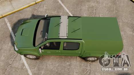 Toyota Hilux Finnish Military Police [ELS] para GTA 4 vista direita