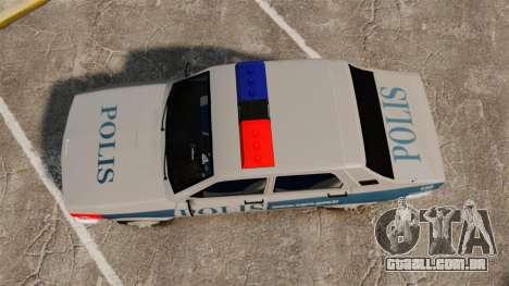 Renault 12 Turkish Police para GTA 4 vista direita