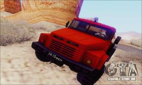 KrAZ 260v para GTA San Andreas traseira esquerda vista