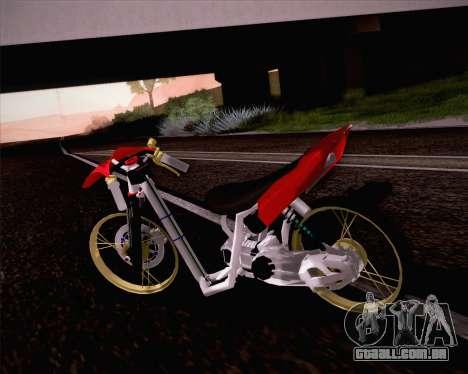 Yamaha Mio para GTA San Andreas esquerda vista