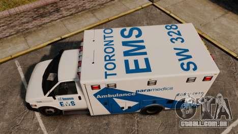 Brute Ambulance Toronto [ELS] para GTA 4 vista direita