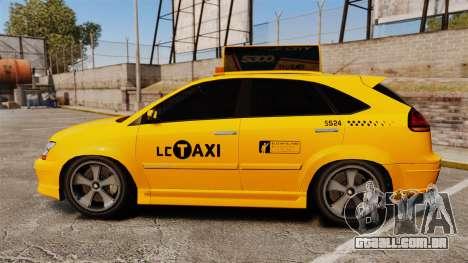 Habanero Taxi para GTA 4 esquerda vista