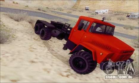 KrAZ 260v para GTA San Andreas vista direita