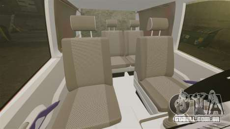 Mercedes-Benz Vito Metropolitan Police [ELS] para GTA 4 vista interior
