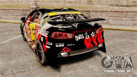 Mitsubishi Lancer Evolution X Ryo King para GTA 4 traseira esquerda vista