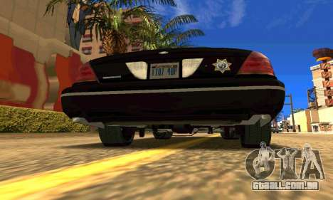 Ford Crown Victoria Police LV para GTA San Andreas traseira esquerda vista