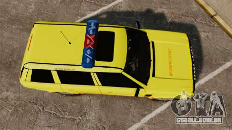 Range Rover Vogue Brannvesenet para GTA 4 vista direita