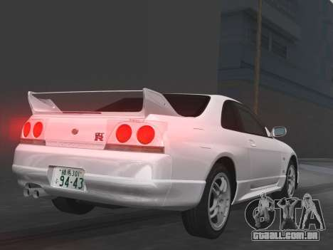 Nissan SKyline GT-R BNR33 para GTA Vice City interior