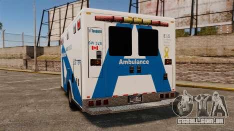 Brute Ambulance Toronto [ELS] para GTA 4 traseira esquerda vista
