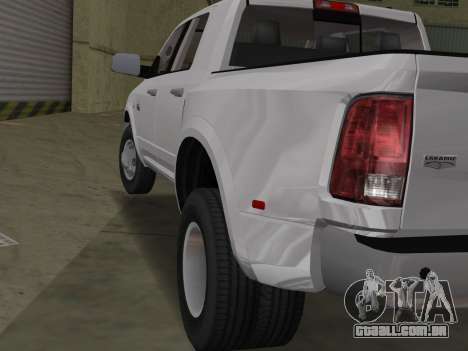 Dodge Ram 3500 Laramie 2012 para GTA Vice City vista direita