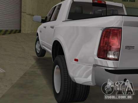 Dodge Ram 3500 Laramie 2012 para GTA Vice City vista direita