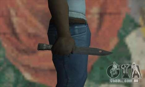 Knife para GTA San Andreas terceira tela