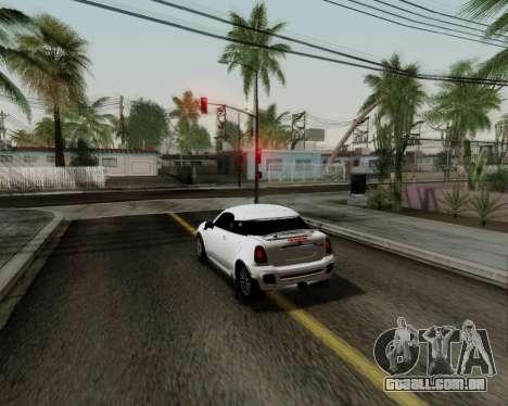 MINI Cooper S 2012 para GTA San Andreas vista interior