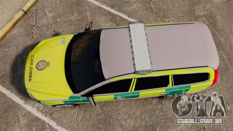 Volvo V70 Ambulance [ELS] para GTA 4 vista direita