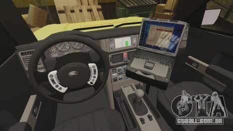 Range Rover Vogue Brannvesenet para GTA 4 vista de volta