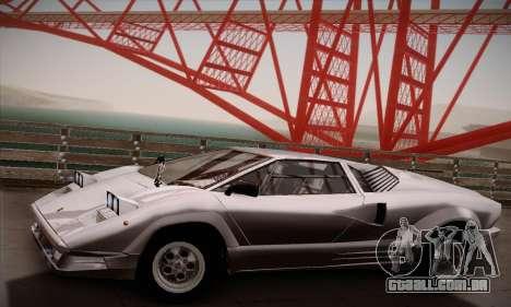 Lamborghini Countach 25th Anniversary para GTA San Andreas vista direita