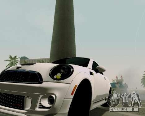 MINI Cooper S 2012 para GTA San Andreas vista direita