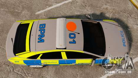 Ford Mondeo Metropolitan Police [ELS] para GTA 4 vista direita