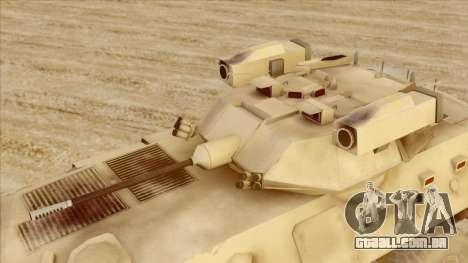 LAV-25 Desert Camo para GTA San Andreas vista direita