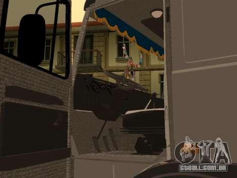 Transportador de madeira MAZ 6430 para GTA San Andreas vista traseira