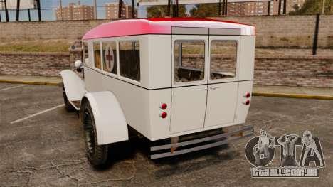 Gaz-AA ambulância para GTA 4 traseira esquerda vista