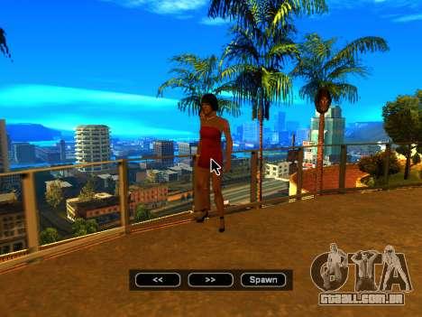 Pak peles de meninas para GTA San Andreas nono tela
