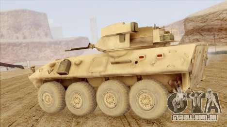 LAV-25 Desert Camo para GTA San Andreas esquerda vista