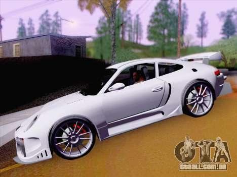Porsche Carrera S para GTA San Andreas vista interior