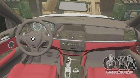 BMW X6 Lancashire Police [ELS] para GTA 4 vista lateral