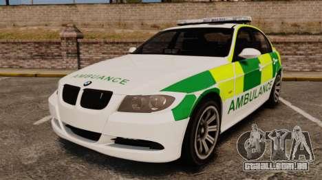 BMW 330i Ambulance [ELS] para GTA 4