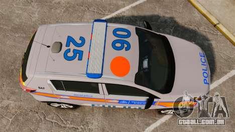 Kia Sportage Metropolitan Police [ELS] para GTA 4 vista direita