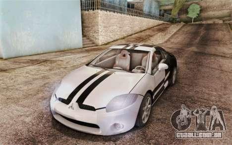 Mitsubishi Eclipse GT v2 para GTA San Andreas vista interior