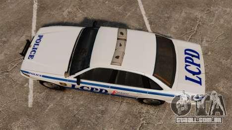 Vapid Police Cruiser v2.0 para GTA 4 vista direita