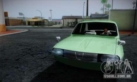 Dacia 1300 Retro Art para GTA San Andreas vista traseira