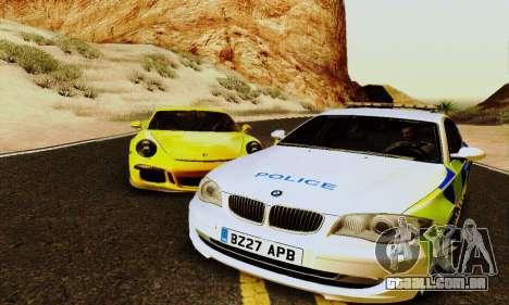 BMW 120i SE Police para GTA San Andreas traseira esquerda vista