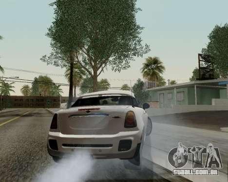 MINI Cooper S 2012 para GTA San Andreas vista superior