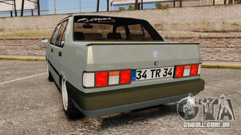 Tofas Dogan v2.0 para GTA 4 traseira esquerda vista
